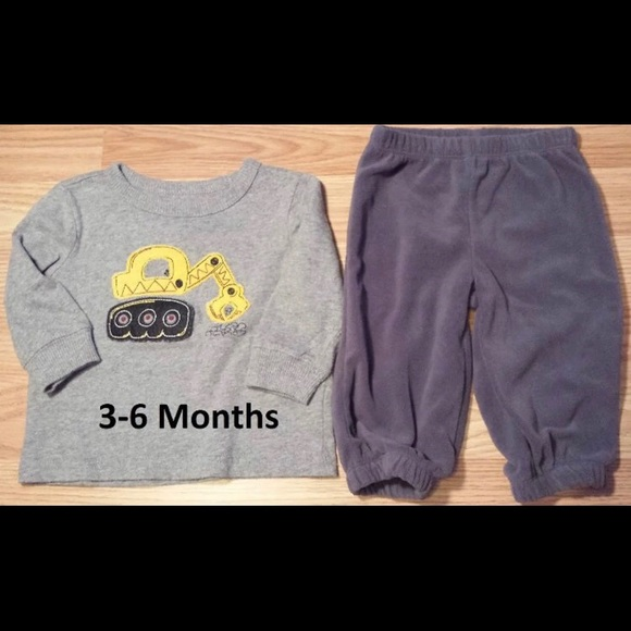 Baby & Toddler Clothing Infant Boys Jumping Beans Gray Gray Pants-size 3 Months